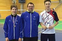 Tomáš Švejda,  Radek Votava a Petr Beran (zleva) na turnaji U19 v Brně.