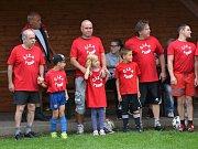 Fotbalová exhibice: Číža team (červené dresy) - Křemže 10:10 (2:4), na penalty 5:4.