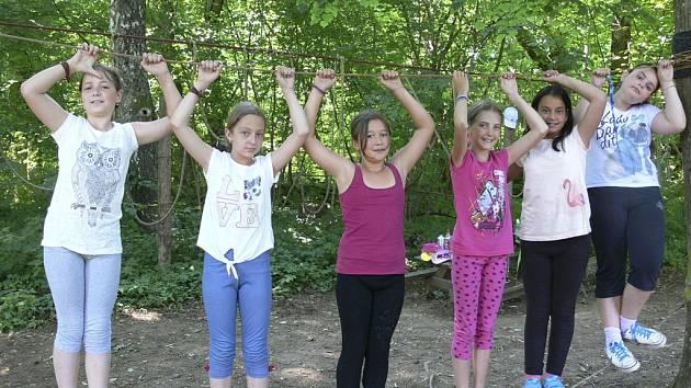 Smyslem tábora je děti rozhýbat
