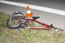 Cyklista utrpěl smrtelné zranění.