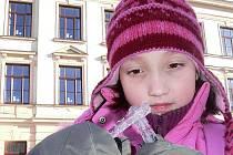 Jako rampouch si ve středu ráno mohla připadat osmiletá Terezka Štefková z Českého Krumlova, stejně jako další lidé. Ale prý jí zima nebyla. V  Českém Krumlově se teploty v jednotlivých čtvrtích značně různily od minus 16 do minus 23 °C.