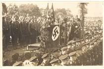 Shromáždění vojáků SA a SS v Kaplici.