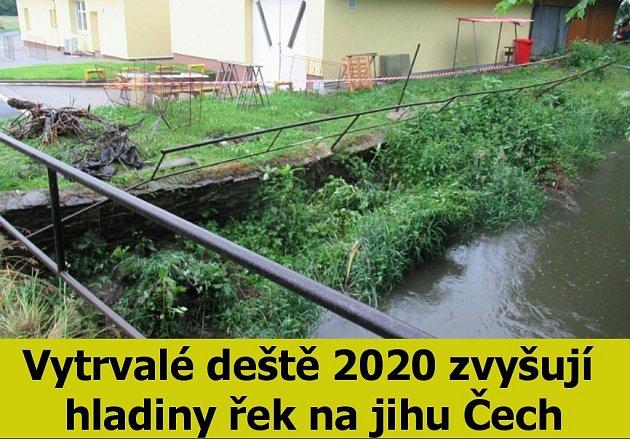 Vytrvalé deště - zvýšení hladiny řek