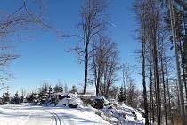 Na Kleti a v jejím okolí jsou čerstvě připravené stopy pro běžkaře.