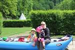 Kempy jsou otevřené, vodáci tak mohli vyrazit na vícedenní výlet Vltavu.