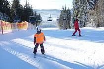 Na Kramolíně je dobrá lyžovačka.