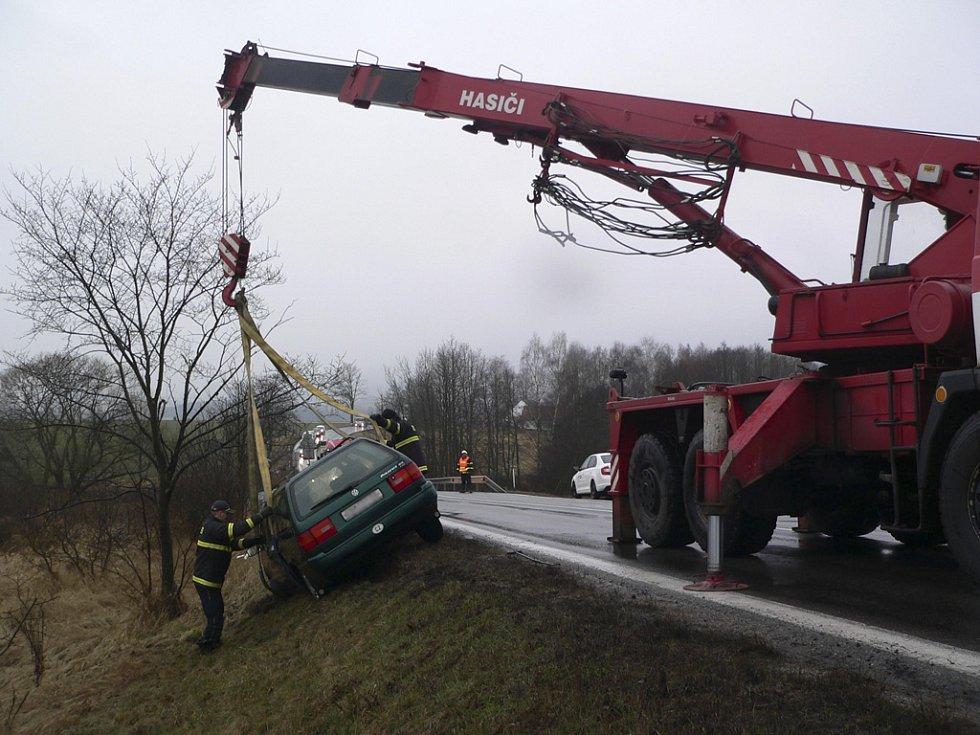 Nehoda se stala nedaleko Dolního Třebonína.