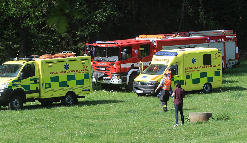 Srážka dvou vlaků u Mříčí na Českokrumlovsku.