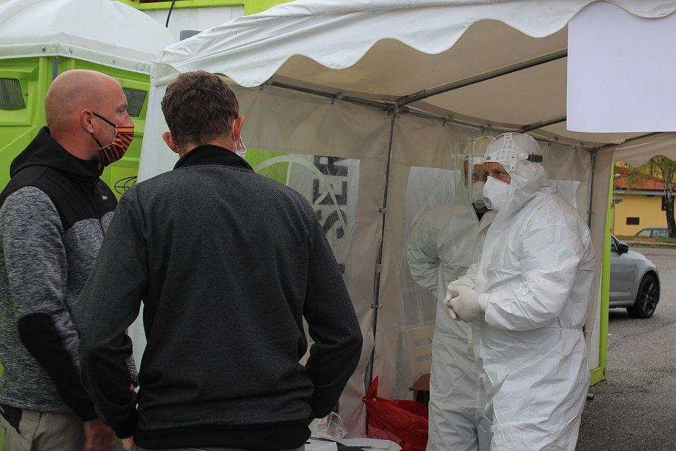 V odběrovém stanu v Dolním Dvořišti se testuje od středy 29. dubna.