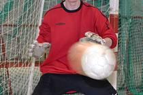 Větřínský brankář Petr Cába byl po souboji s Novabrikem Polička vyhlášen nejlepším hráčem utkání, ale na body Bombarďáci tentokrát nedosáhli.