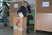 Druhé kolo prezidentských voleb ve Větřní.