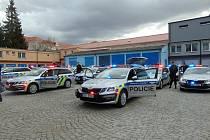 Nové vozy jihočeské policie.