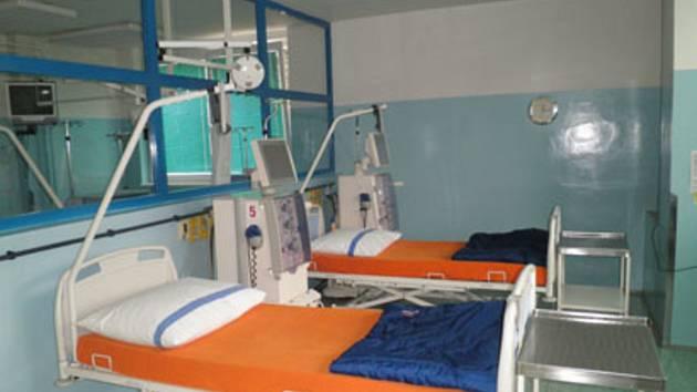 Hemodialyzační středisko v českokrumlovské nemocnici.