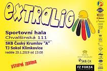 V neděli 20. ledna se v českokrumlovské městské sportovní hale bude hrát špičkový badminton.