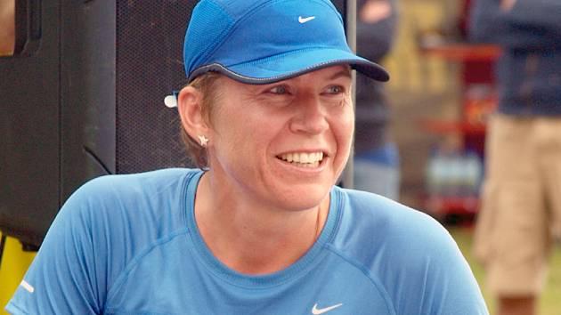 """""""Běžela jsem naplno a dala jsem si pořádně do těla,"""" zhodnotila svou účast v sobotním běžeckém závodě na 12 kilometrů u Lipna Kateřina Neumannová."""