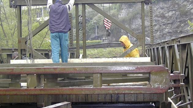 Provizorní most. Ilustrační foto.