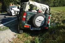 Nehoda dvou aut u Skoronic.