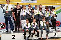 Velmi úspěšně si vedli členové SK Karate Český Krumlov v úvodním kole Národního poháru v Olomouci, odkud přivezli celou řadu medailí.