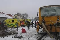 Dva vlaky se srazily u Vodňan.