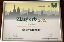 Internetové stránky města Český Krumlovs získaly ocenění a druhé místo v nejlepších webech na jihu Čech.