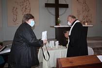 Slavnostní díkuvzdání v Kapli betlémské v Besednici.
