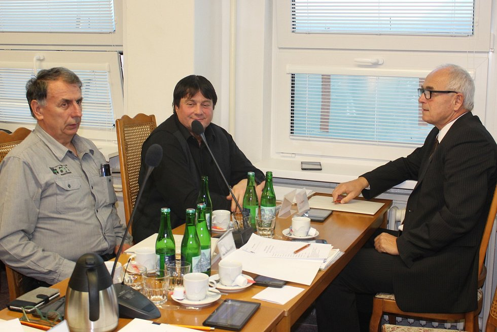 Zleva: Milan Hodboď, Rudolf Blahovec a Petr Šandera.