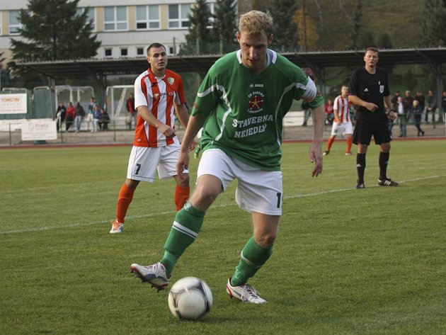 K obratu v utkání zavelel navrátilec do krumlovské základní sestavy Michal Pliška (na snímku), který v 62. minutě odstartoval kanonádu Jihočechů.