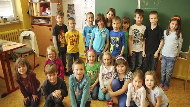 Třída 1.A Základní školy Fantova v Kaplici.