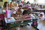 Zahájení školy v 1. třídě A učitelky Dany Šestákové ZŠ Školní v Kaplici.