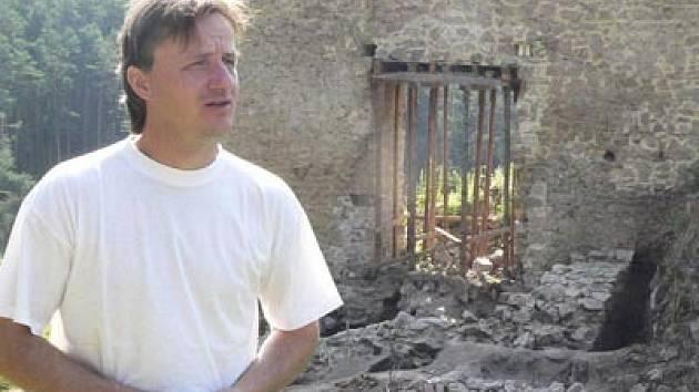 Radek Kocanda má s hradem Pořešín další velké plány.