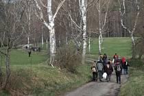 První výšlap, který symbolicky otevřel turistické trasy na Vyšebrodsku.