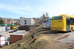 Krumlovské autobusové nádraží se změní ve staveniště.