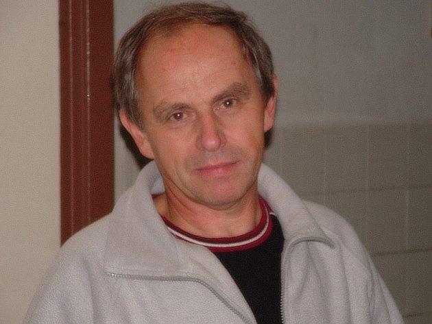 Trenér kaplických florbalistů Jan Rous.