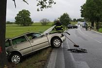 Čtvrteční nehoda poblíž Krasejovky.