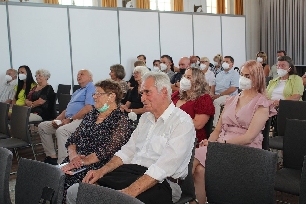 Slavnostní předání Cen města 2020 v českokrumlovské synagoze.