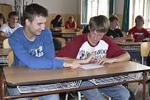 Statistické výsledky probírali v pondělí deváťáci při hodině matematiky.