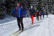 Další sněhová nadílka výrazně vylepšila podmínky jak pro sjezdaře, tak pro lyžaře. Takhle to teď vypadá kolem Lipna nad Vltavou.
