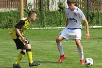 I.A třída (skupina A) – 3. kolo (2. hrané): TJ Nová Ves (bílé dresy) – FK Spartak Kaplice 0:3 (0:1).