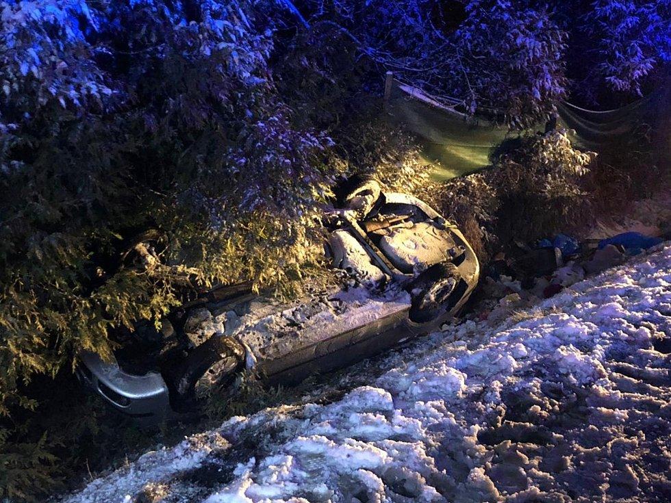 Dopravní nehoda v Plané u Českých Budějovic.