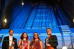 Kvarteto Jihočeské filharmonie zahrálo ve středu odpoledne v podzemních prostorách lipenské elektrárny.