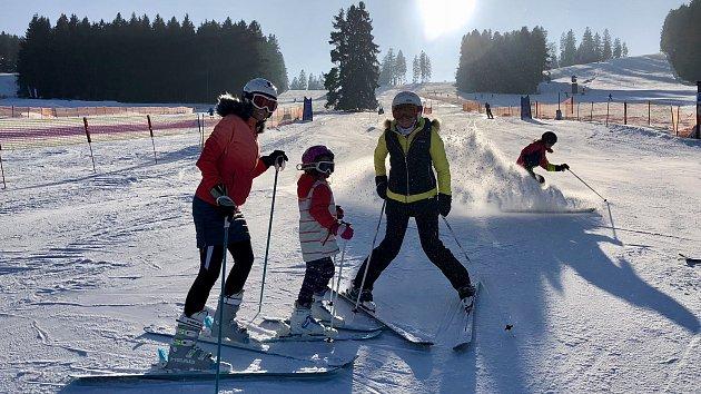 Pohodové březnové lyžování na Hochfichtu.