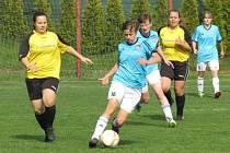 Fotbalová divize žen (skupina D) – 20. kolo: TJ Sokol Jindřichův Hradec (žlutočerné dresy) –  FK Spartak Kaplice 0:4 (0:1).