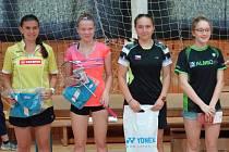 Nejlepší juniorky celostátního turnaje v Orlové – zleva: Zuzana Matoušková a Tereza Kobyláková.