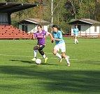 Divize ženy – 6. kolo: FK Spartak Kaplice (modré dresy) – TJ Platan Protivín 10:0 (6:0).