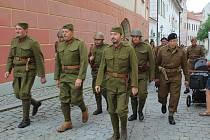 Český Krumlov připomněl Československou samostatnou obrněnou brigádu z 2. světové války.