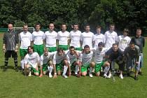 První tým FK Slavoj Český Krumlov, který v krajském přeboru 07/08 vybojoval bronzové medaile.