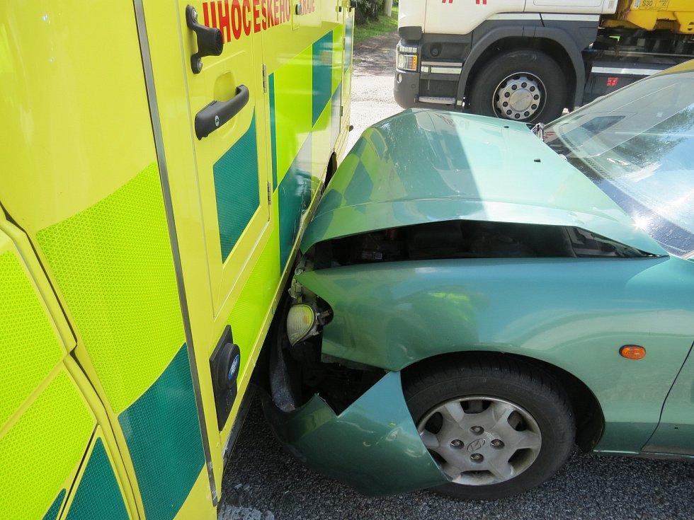 Nehoda u Ravně na Kaplicku.