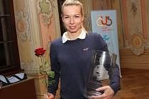 Sportovní hvězda okresu 2017 - českokrumlovská badmintonistka Hana Milisová.