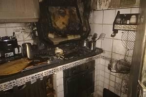 V kuchyni vznikl požár v domě v Benešově nad Černou.