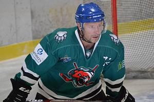 Vítěznou branku medvědů na Hluboké vstřelil v 56. minutě kapitán Jiří Vondřich.